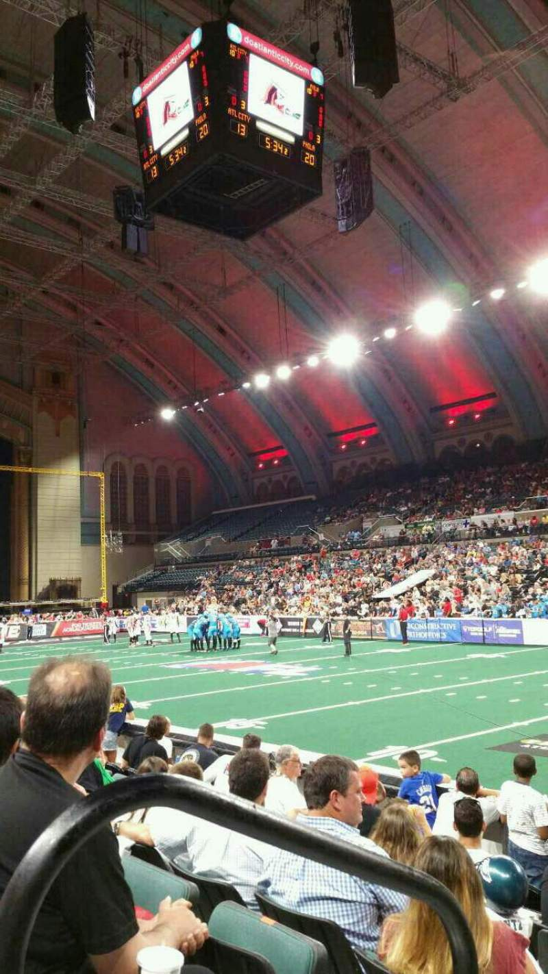 Boardwalk Hall, section 108, row GG, seat 1, home of ...
