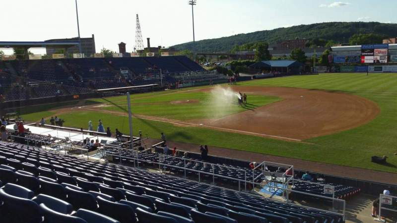 Seating view for NYSEG Stadium Section 114 Row X Seat 1