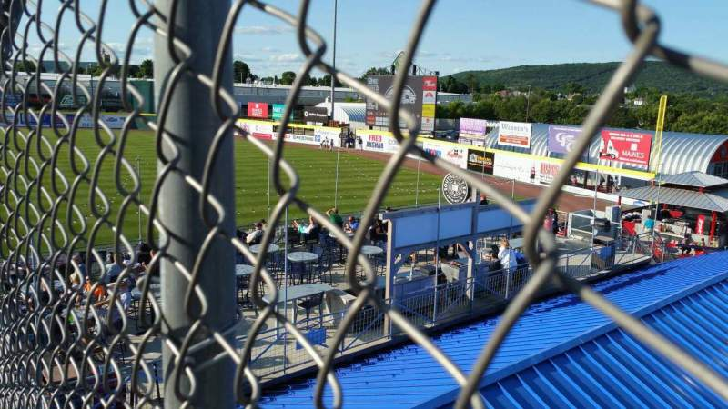 Seating view for NYSEG Stadium Section 114 Row X Seat 11
