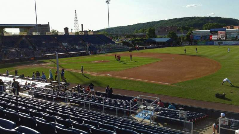 Seating view for NYSEG Stadium Section 114 Row U Seat 1