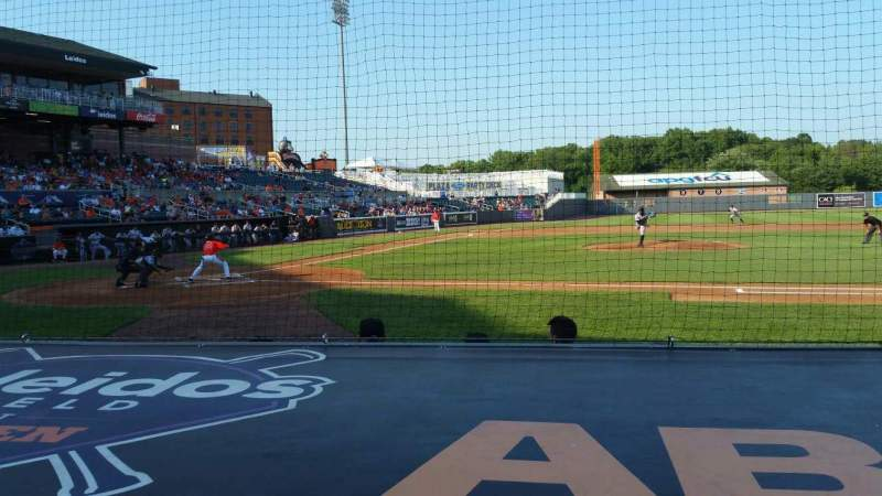 Seating view for Ripken Stadium Section 109 Row A Seat 3