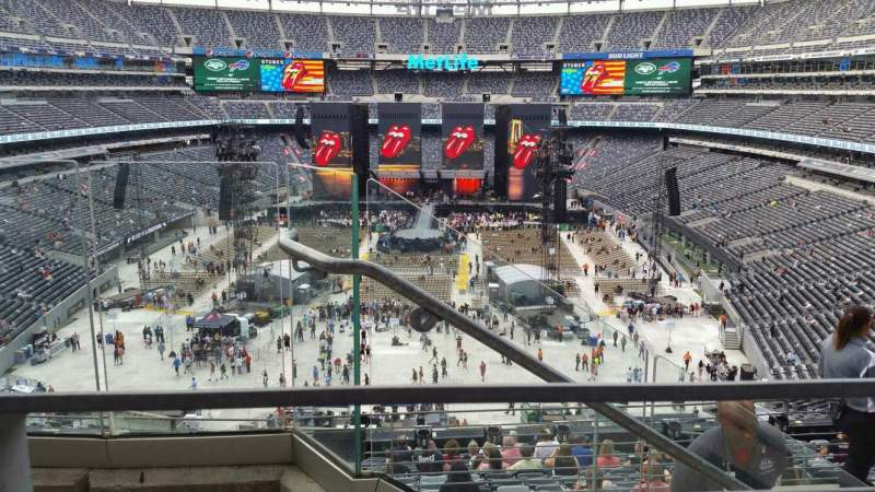 Seating view for MetLife Stadium Section 225B Row 3 Seat 25
