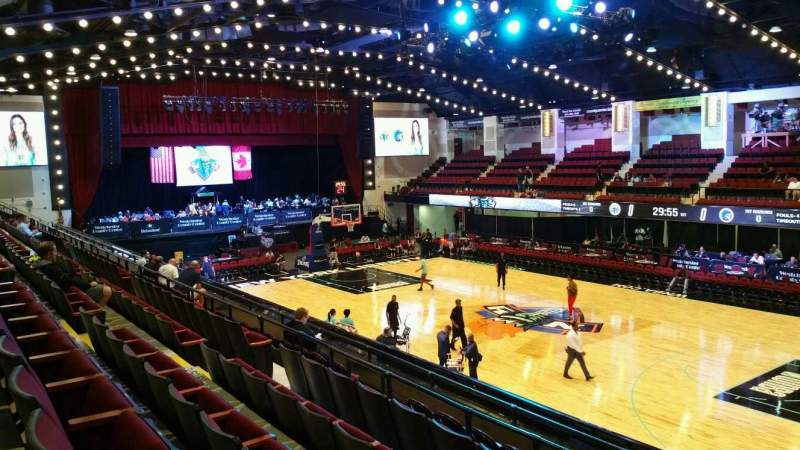 Seating view for Westchester County Center Section 60LFT Row F Seat 60