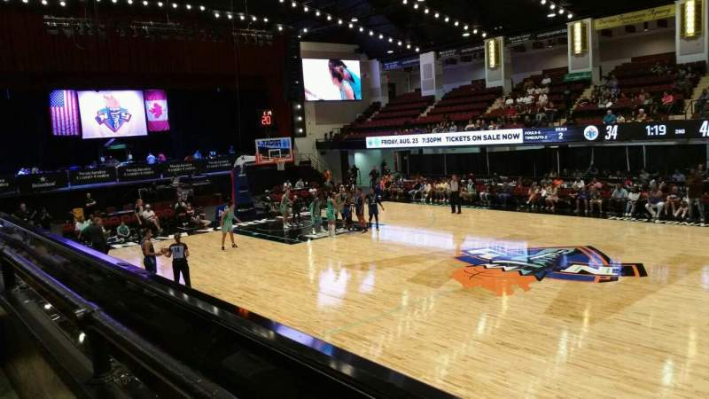 Seating view for Westchester County Center Section 40LFT Row A Seat 48