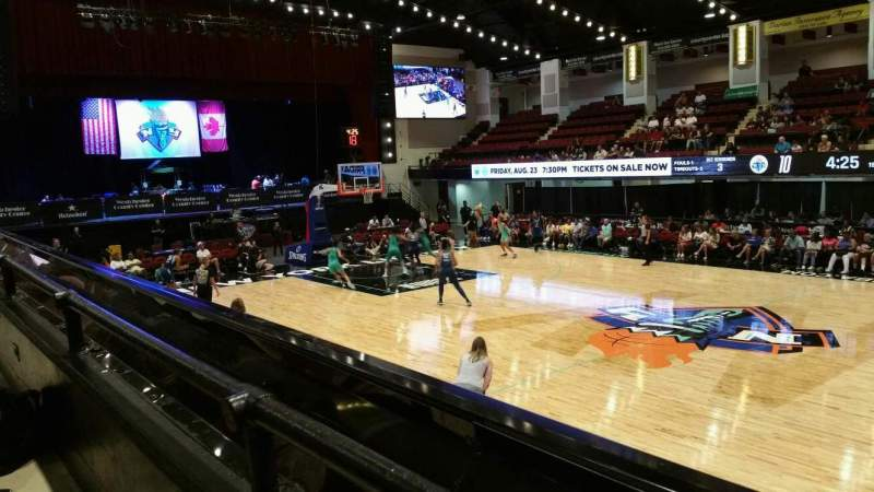 Seating view for Westchester County Center Section 40LFT Row A Seat 47