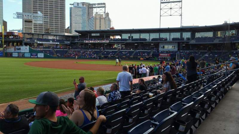 Seating view for Dunkin' Donuts Park Section 120 Row H Seat 16