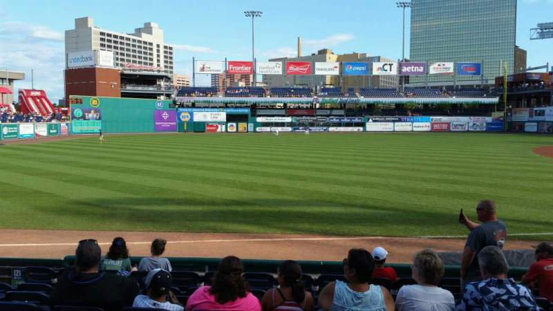 Seating view for Dunkin' Donuts Park Section 120 Row H Seat 9