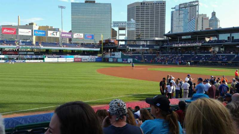 Seating view for Dunkin' Donuts Park Section 119 Row J Seat 16