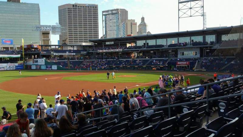 Seating view for Dunkin' Donuts Park Section 1119 Row P Seat 8