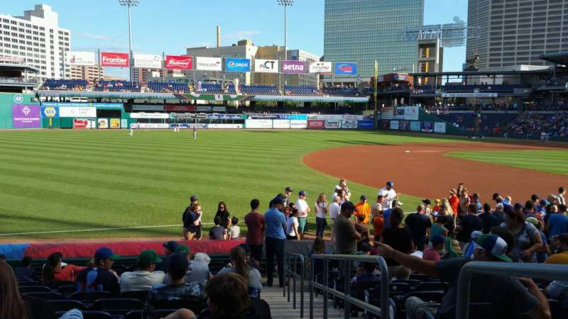 Seating view for Dunkin' Donuts Park Section 119 Row M Seat 1