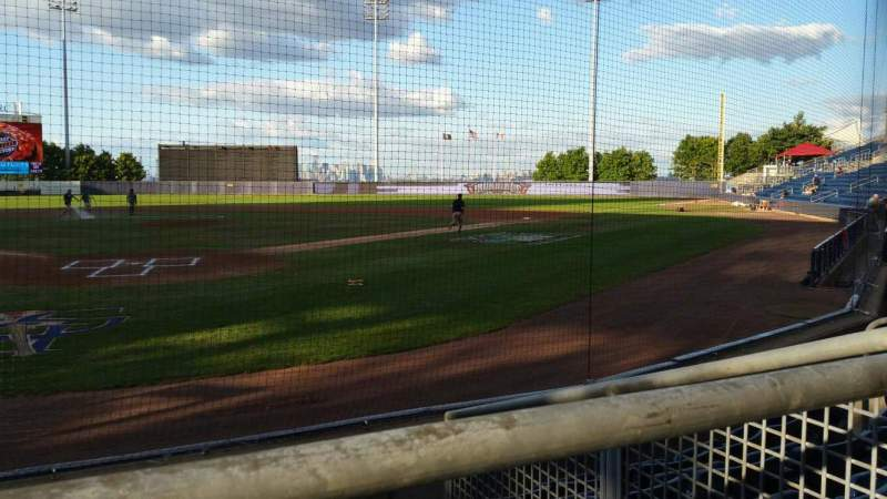 Seating view for Richmond County Bank Ballpark Section 9 Row E Seat 1