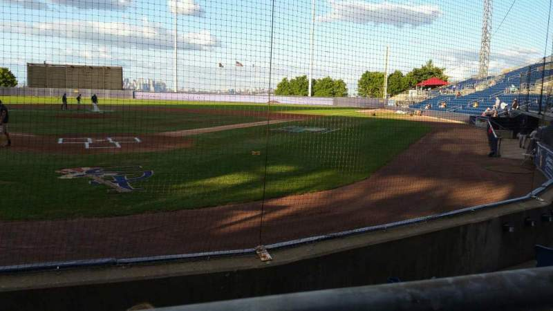 Seating view for Richmond County Bank Ballpark Section 9 Row E Seat 9
