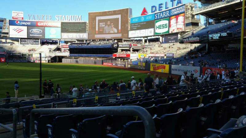 Seating view for Yankee Stadium Section 112 Row 7 Seat 1