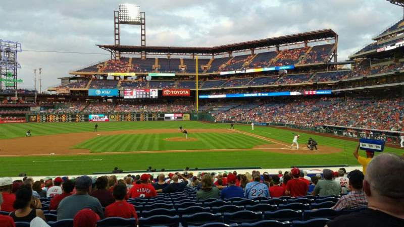 Seating view for Citizens Bank Park Section 130 Row 21 Seat 10