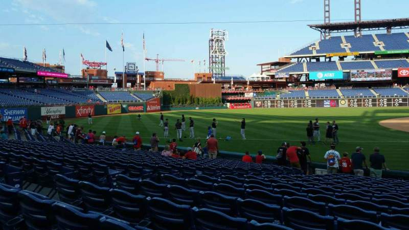 Seating view for Citizens Bank Park Section 134 Row 17 Seat 8