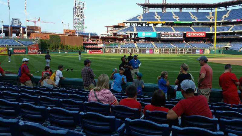 Seating view for Citizens Bank Park Section 135 Row 8 Seat 8