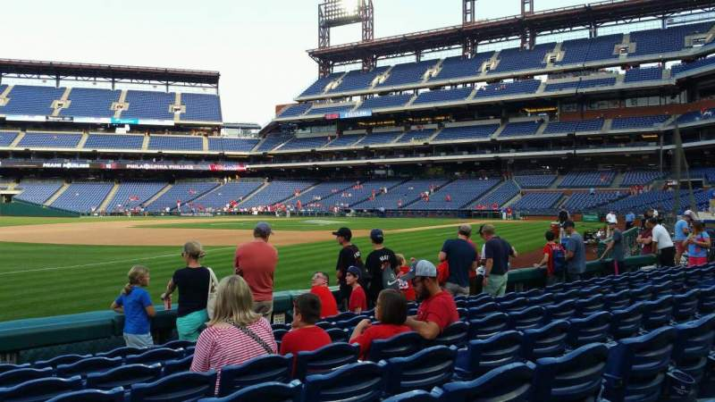 Seating view for Citizens Bank Park Section 135 Row 8 Seat 15