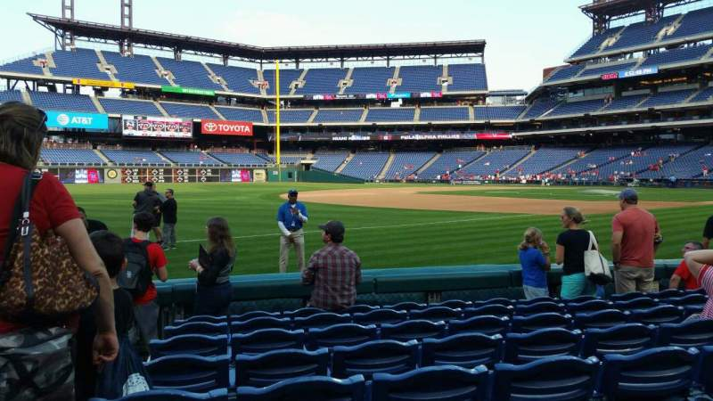 Seating view for Citizens Bank Park Section 135 Row 8 Seat 18