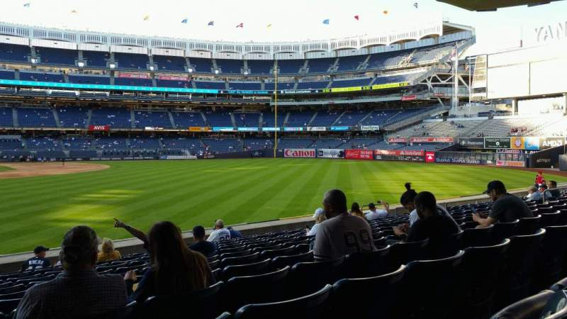 Seating view for Yankee Stadium Section 105 Row 12 Seat 24