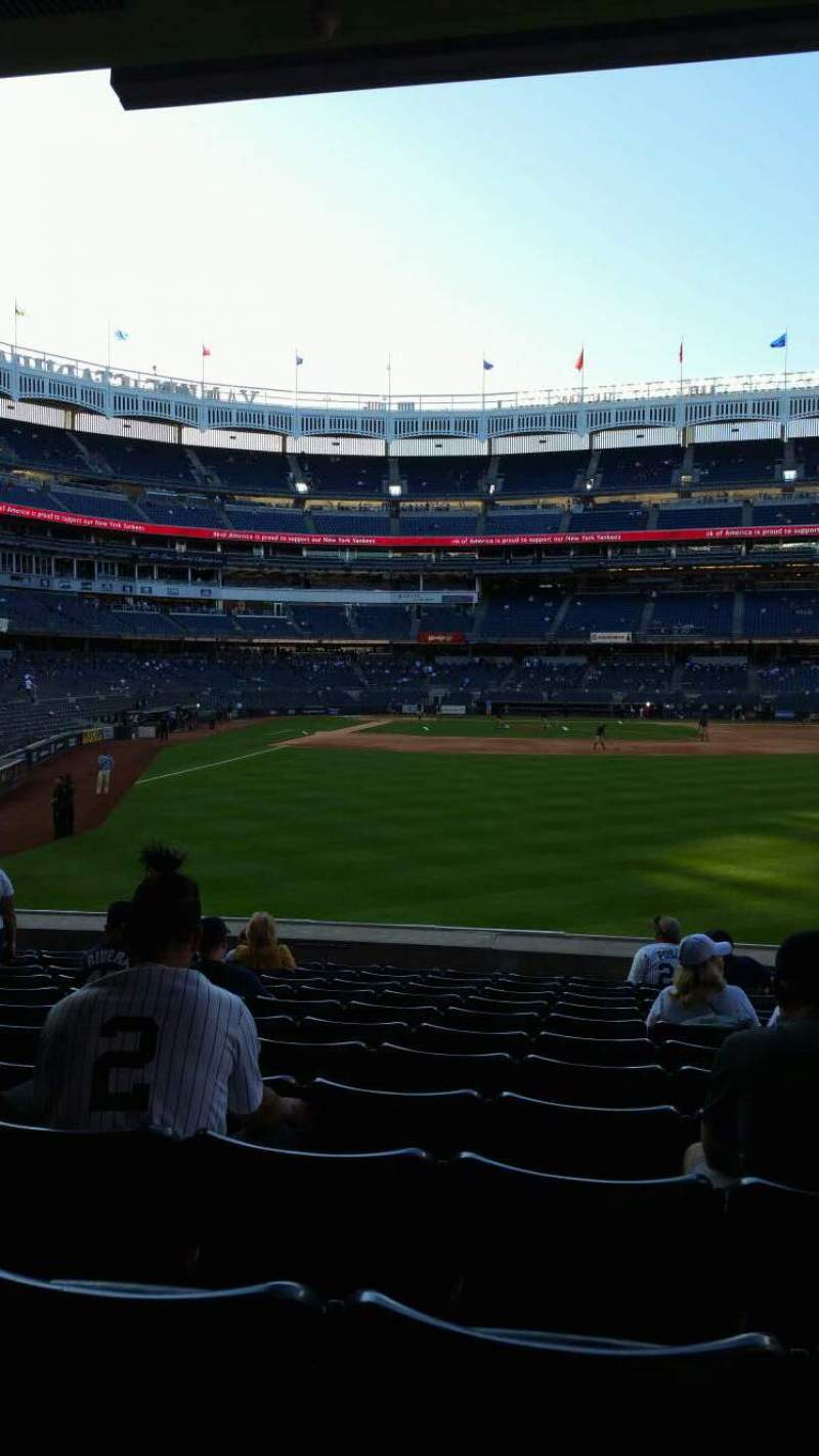 Seating view for Yankee Stadium Section 105 Row 12 Seat 13