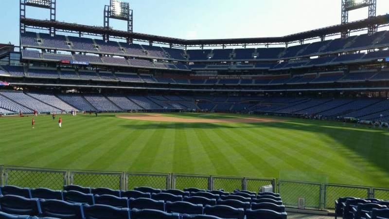 Seating view for Citizens Bank Park Section 148 Row 14 Seat 1