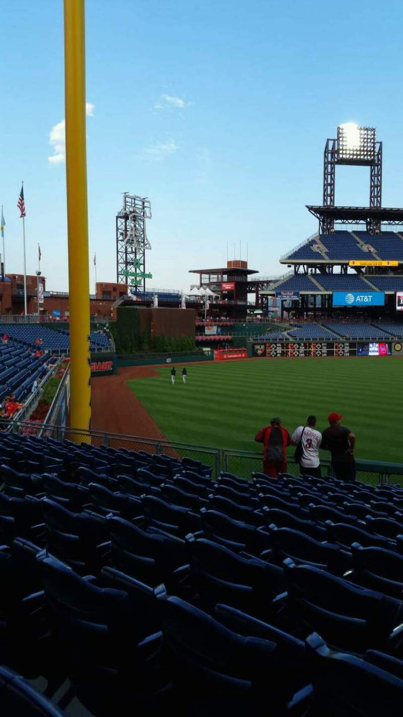 Seating view for Citizens Bank Park Section 139 Row 33 Seat 10