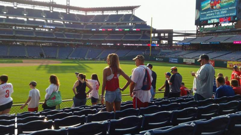 Seating view for Citizens Bank Park Section 104 Row 8 Seat 22