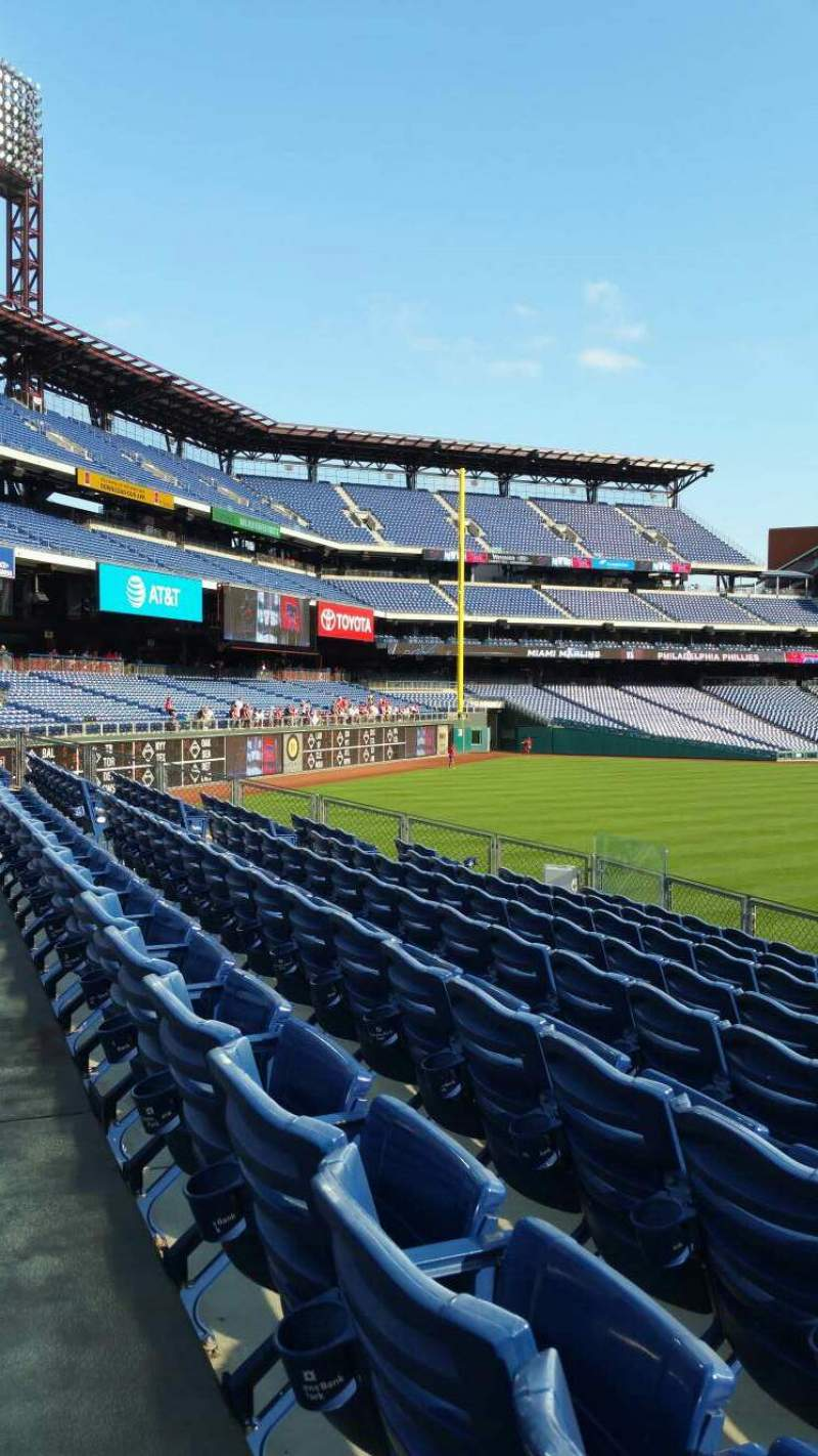 Seating view for Citizens Bank Park Section 147 Row 11 Seat 1