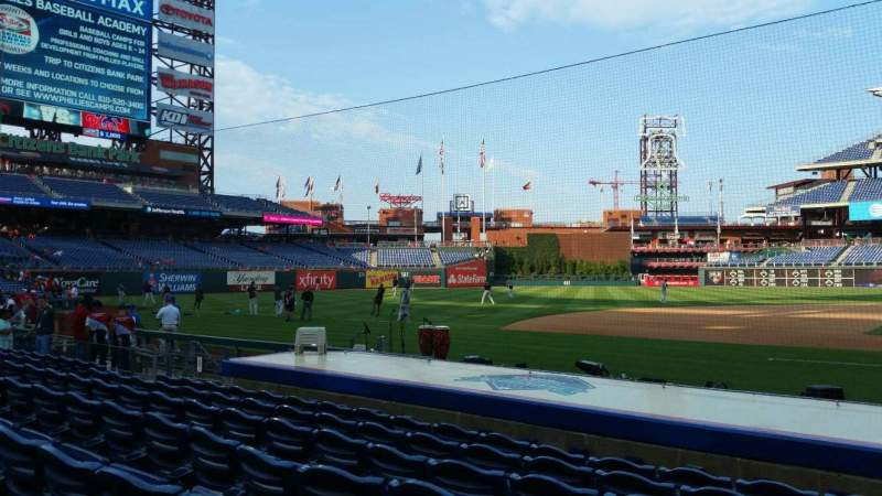Seating view for Citizens Bank Park Section 131 Row 7 Seat 1