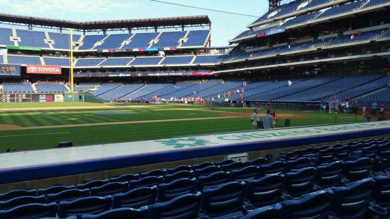 Seating view for Citizens Bank Park Section 131 Row 7 Seat 9