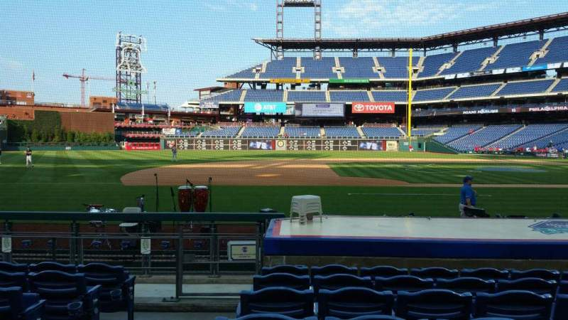 Seating view for Citizens Bank Park Section 131 Row 7 Seat 18