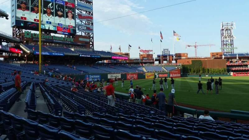 Seating view for Citizens Bank Park Section 133 Row 11 Seat 1