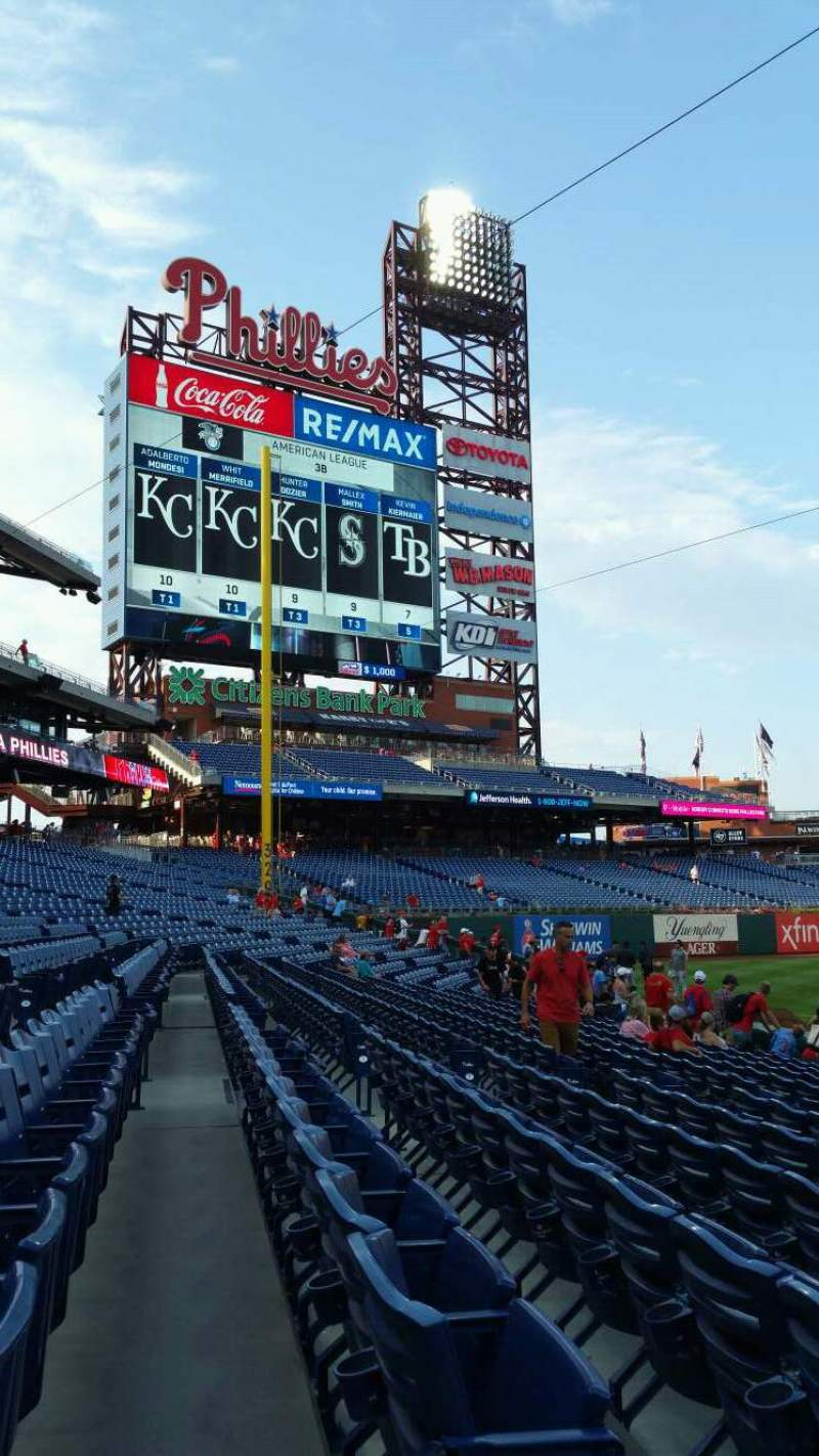 Seating view for Citizens Bank Park Section 133 Row 11 Seat 12