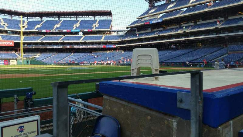 Seating view for Citizens Bank Park Section 132 Row 1 Seat 1