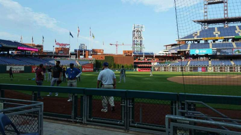 Seating view for Citizens Bank Park Section 132 Row 1 Seat 12