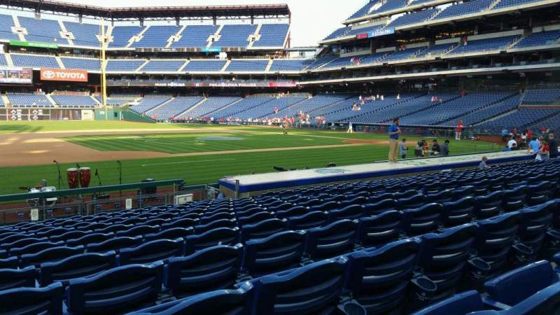 Seating view for Citizens Bank Park Section 132 Row 13 Seat 12