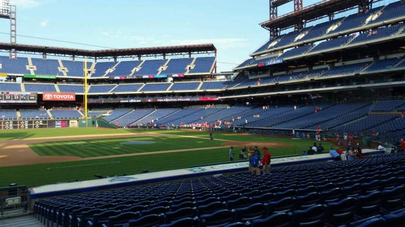 Seating view for Citizens Bank Park Section 132 Row 19 Seat 1