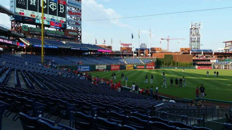 Seating view for Citizens Bank Park Section 132 Row 19 Seat 13