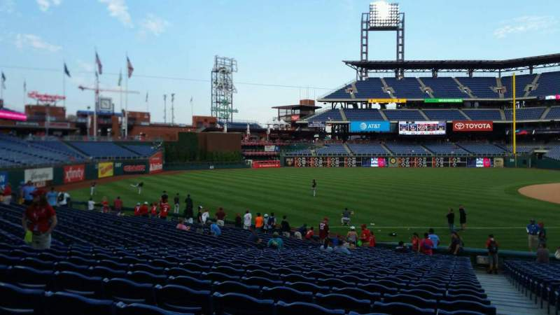 Seating view for Citizens Bank Park Section 136 Row 27 Seat 1