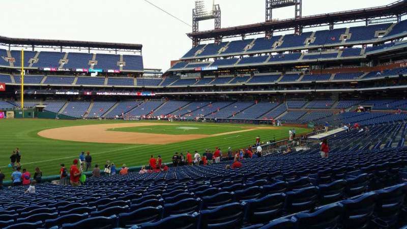 Seating view for Citizens Bank Park Section 136 Row 27 Seat 9