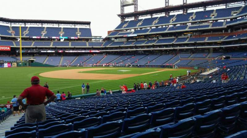 Seating view for Citizens Bank Park Section 136 Row 27 Seat 18