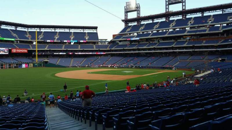 Seating view for Citizens Bank Park Section 137 Row 32 Seat 1