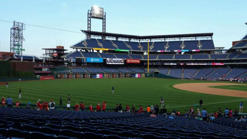 Seating view for Citizens Bank Park Section 137 Row 32 Seat 12