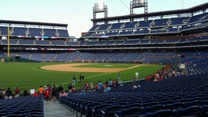 Seating view for Citizens Bank Park Section 138 Row 26 Seat 1