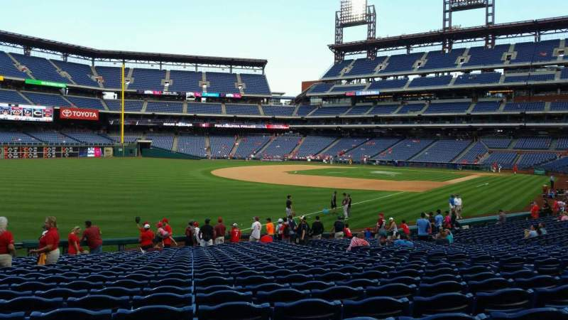Seating view for Citizens Bank Park Section 138 Row 26 Seat 9