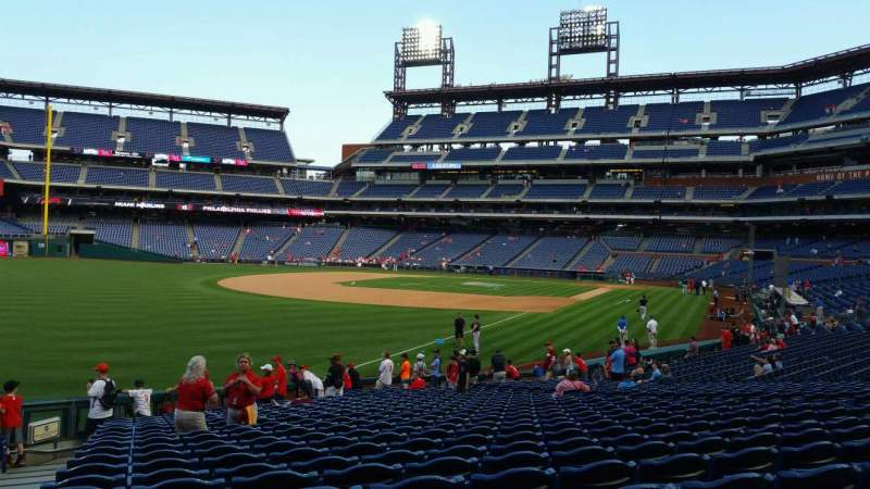 Seating view for Citizens Bank Park Section 138 Row 26 Seat 18