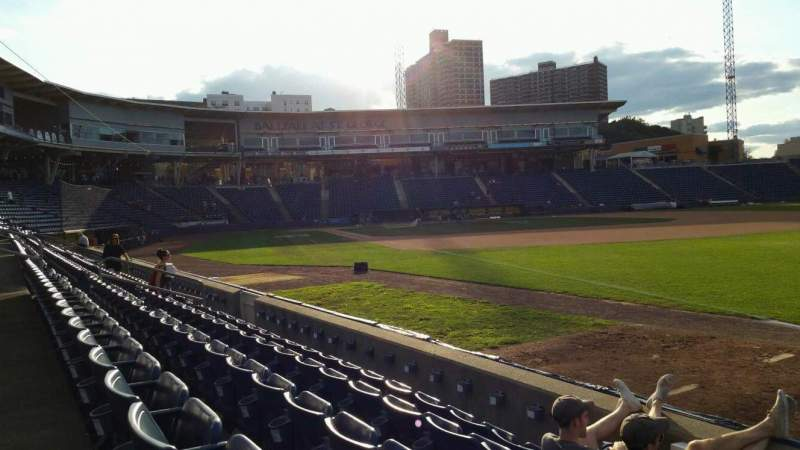 Seating view for Richmond County Bank Ballpark Section 16 Row E Seat 1