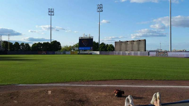 Seating view for Richmond County Bank Ballpark Section 16 Row D Seat 11