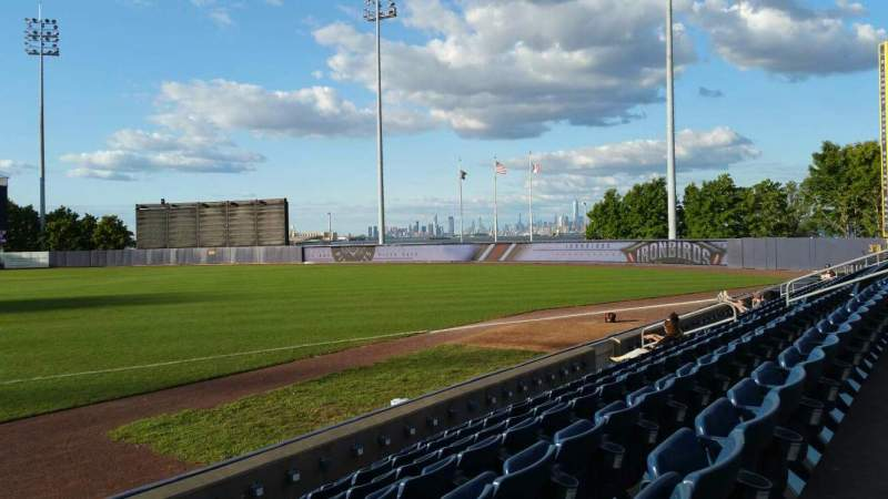 Seating view for Richmond County Bank Ballpark Section 14 Row G Seat 1