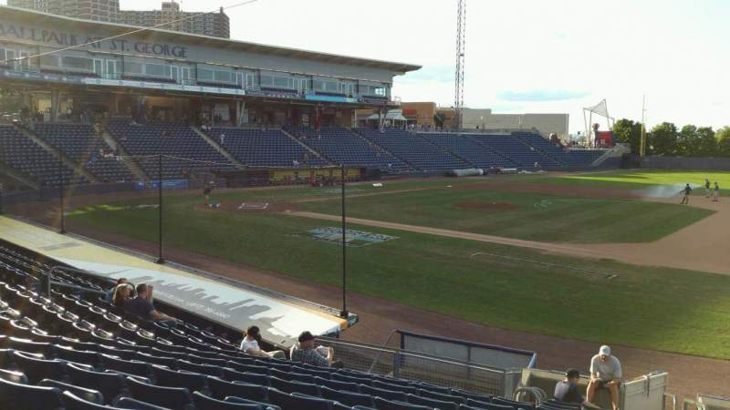 Seating view for Richmond County Bank Ballpark Section 13 Row P Seat 1
